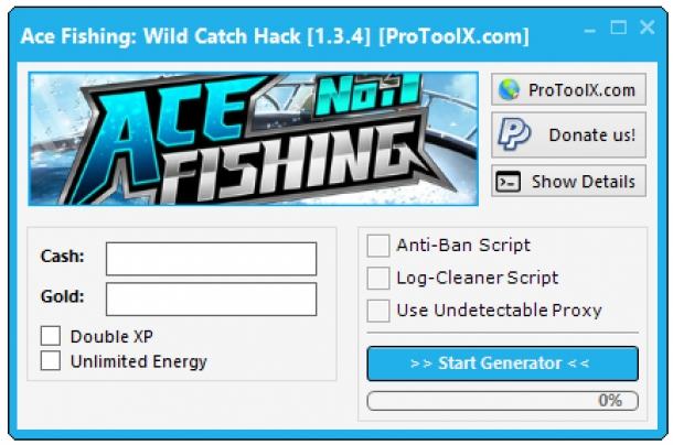 Bot ace fishing wild catch hack cheats android ios for Ace fishing cheats